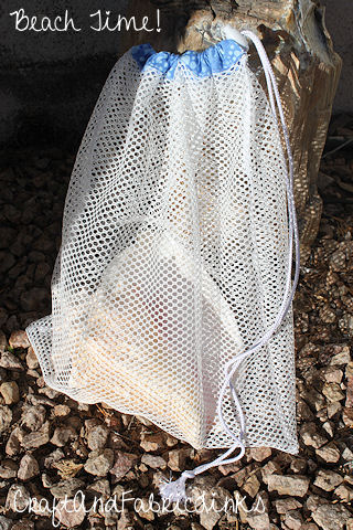 Drawstring Mesh Beach Bag Sewing Pattern