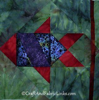 Fish Block 3 Fish Quilt Pattern