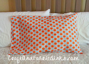 How to sew a standard pillowcase with flap